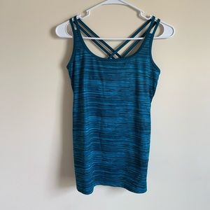 Champion Striped Criss Cross Athletic Workout Tank